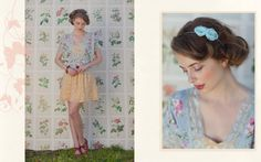 Vintage and I love the feminine clash of colors and patterns
