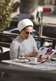 Ascia akf rivafashion Turban Outfit, Hijab Turban Style, Mode Turban, Hijab Outfit, Muslim Fashion, Hijab Fashion, Modest Fashion, Stylish Hijab, Hijab Chic