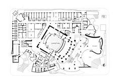 Walt Disney Concert Hall (Orchestra level plan), Los Angeles, U.S.A. - Frank Owen Gehry