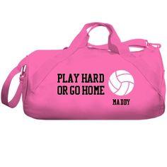 Play Hard Volleyball Bag: Custom Liberty Bags Barrel Duffel Bag - Customized Girl