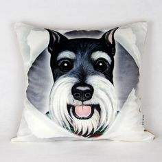 Schnauzer throw pillow 18 in a comfortable couch cushions