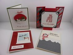 Christmas Cards  Linda Bauwin - CARD-iologist Helping you create cards from the heart www.stampingwithlinda.com