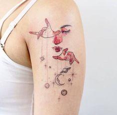 Imagem de tattoo, planet, and space