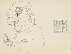 """""""Self-Portrait,"""" ca. 1970, Philip Guston"""