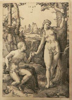 Adan y Eva. Lucas de Leyden -La misteriosa llama de la reina Loana. Umberto Eco