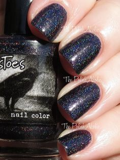 CrowsToes Fall 2013 Better Late Than Never Collection Black Widow Nail Polish