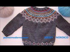 Baby Boy Knitting, Knitting Wool, Knitting For Kids, Knit Baby Sweaters, Boys Sweaters, Sweaters For Women, Crochet Hook Set, Crochet Coat, Tejido Fair Isle