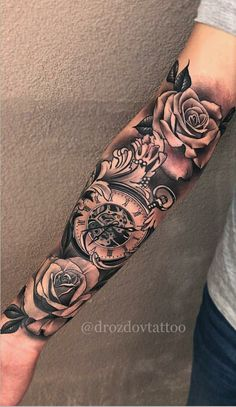 Sleeve Time Piece Tattoos Tatto