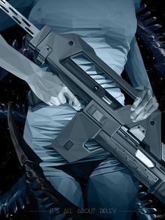Simon Delart - poster for 35th anniversary of Alien