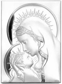 Obrazek Madonna z Dzieciątkiem w aureoli - (s#B1056,7,8,B2116ORO,7) [PasazHandlowy.eu]