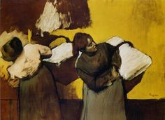 Daumier  «Blanchisseuses portant du linge»