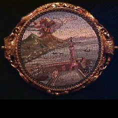 Incredible Micro Mosaic Jewelry | Home » Vintage & Victorian » 22K Italian Micro mosaic Brooch