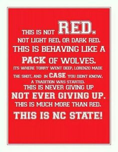 This is NC State!