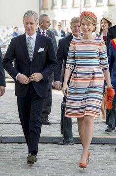 La reine des Belges Mathilde hisse les couleurs à Gand