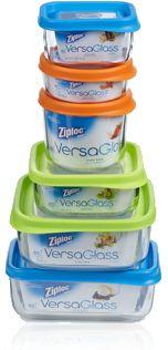 Ziploc VersaGlass containers, store, heat, serve...dishwasher safe