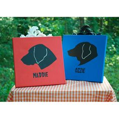 Painted Pet Silhouettes by cliquecreative on Etsy, $30.00...Love these, Judy!!!