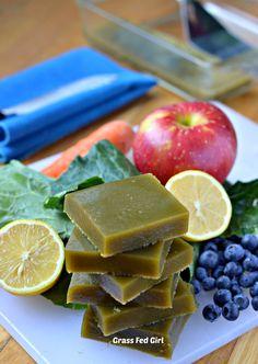 Green Juice Detox Gelatin Gummies (gluten free, dairy free, low carb, Paleo) Grass Fed Girl