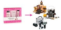 What to Get Him for Valentine's Day >>> No To Bath Sets . YES To Man Crates --- Pink Marshmallow Buttercream Trio, PHILOSOPHY (Available at MACY'S), $24; The Man Can, PLUM ISLAND SOAP COMPANY (Available at Gifttree.com), $50; Hickory Grilling Crate, MAN CRATES, $65; Three-Piece Combo Tool Kit, MIKITA (Available at Amazon.com)