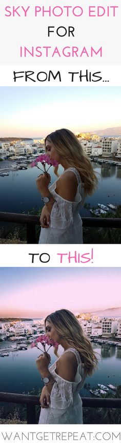 Photo Edit before after instagram vsco theme sky editing pink sky dreamy summer photos editing tutorial on Want Get Repeat Blog