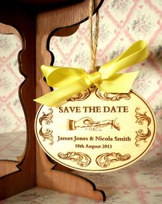 WE CAN GET YOU WOODEN SAVE THE DATES OR THE ACTUAL INVITE! i KNOW SOMEONE THAT KNOWS SOMEONE!! 20x Floral Woodcut Save the Date Wooden Tags