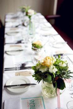 Table settings, venue styling, flowers, Lisa Devlin photography