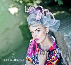 512e73571cf Silver Grey Light Pink Purple Statement Women by EllaGajewskaHATS...  Facinator Hats