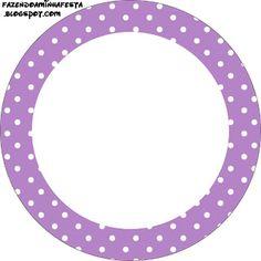 Imprimibles de lunares blancos en fondo rosa y lila 2.