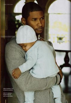 new pictures of usher - Yahoo! Black Celebrity Kids, Celebrity Pix, Celebrity Babies, Black Celebrities, Celebs, Men And Babies, Usher Raymond, Father And Baby, Fathers Love