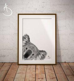Tattoo Koala, Animal Nursery, Koala Nursery, Photo Store, Australian Animals, Woodland Nursery Decor, Baby Deer, Baby Animals, Baby Giraffes
