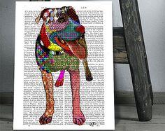 Chien de sauvetage chien noir Art de chien chien par GoingPlaces2
