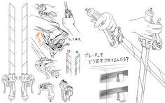 Shingeki no Kyojin/Attack on Titan - Cosplay concept… Gear Drawing, Sword Drawing, Drawing Reference Poses, Attack On Titan Tattoo, Attack On Titan Art, Titans Gear, Gear Tattoo, Aot Cosplay, Sword Tattoo