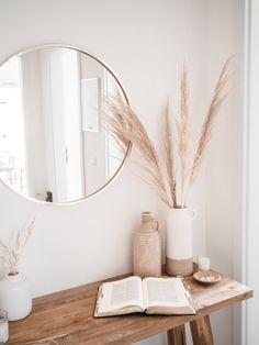 Boho Bedroom Decor, Living Room Decor, Entryway Decor, Entryway Mirror, Bedroom Ideas, Wall Decor, Grass Decor, Aesthetic Room Decor, Home Decor Inspiration