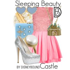 Sleeping Beauty Castle by leslieakay on Polyvore featuring Topshop, ALDO, Thalé Blanc, Tory Burch, River Island and Disney Couture