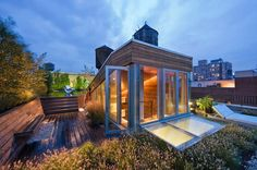Roof Garden, Shower, Contemporary Penthouse on Broadway in Manhattan