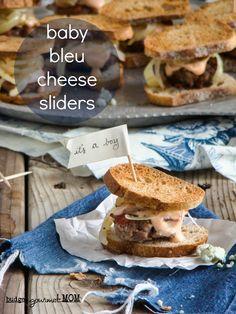 Baby Blue Cheese Burgers - Budget Gourmet Mom | Budget Gourmet Mom