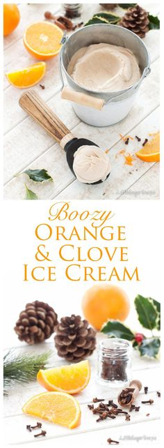 Spiked with winter spice and a boozy hit of Cointreau, Clove & Orange Ice Cream makes a tasty alternative to anybody not in favour of traditional Christmas desserts