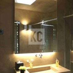 Bathroom Washbasin and Wall with Microcement