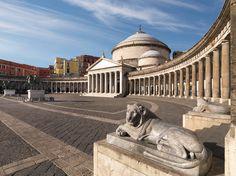 NAPOLI  -  Piazza del Plebiscito Rome Italy Tours, Places In Italy, Amalfi Coast, Sardinia, Travel Deals, Vacation Places, Bella Italia, Italy Travel, Capri