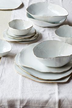 I love the idea of these wavy edged dishes.