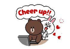Kawaii Cute, Kawaii Anime, Line Cony, Cony Brown, B Image, Cute Couple Cartoon, Bunny And Bear, Emoticons, Cartoons Love