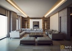 Recessed lighting wells keep the look of this minimalist layout sleek and uncomplicated.