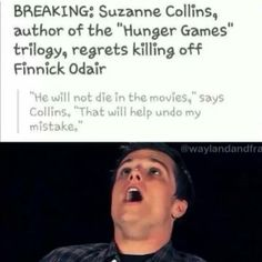 If Suzanne Collins decides NOT to kill Finnick Odair in the final installment of the Hunger Games movies, then I will be so happy! Hunger Games Memes, The Hunger Games, Hunger Games Fandom, Hunger Games Catching Fire, Hunger Games Trilogy, Suzanne Collins, Katniss Everdeen, I Volunteer As Tribute, Chesire Cat