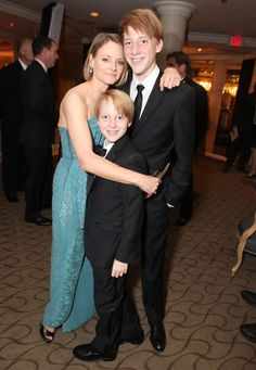 Jodie Foster with Christopher and Charlie