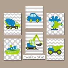 TRANSPORTATION Wall Art TRANSPORTATION Theme Boy Cars