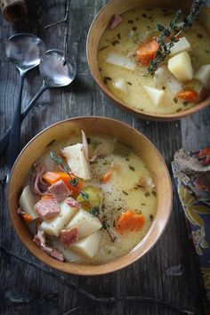 #paleo #paleomg Creamy & Hearty Hame Bone Potato Soup