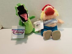 DISNEY STORE PETER PAN CROCK and smee STUFFED ANIMAL PLUSH TOY BEAN BAG DOLL TAG | Toys & Hobbies, Stuffed Animals, Disney | eBay!