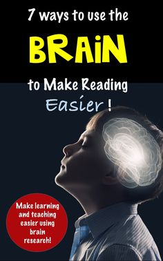 Teach smarter, not harder by using brain research to reach every student, and improve academic achievement, motivation and interest! Reading Lessons, Reading Resources, Reading Activities, Reading Skills, Teacher Resources, Reading Games, Motor Activities, Classroom Resources, Physical Activities