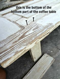 How To Make A Wood Coffee Table Out Of Old Doors {assembly Process