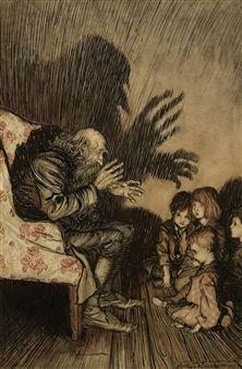 Rip van Winkle: The story-teller By Arthur Rackham ,1905