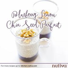Use Superfoods to Boost Your Yoga Practice Blueberry Lemon Chia Seed Parfait Recipe kitchen.nutiva.com